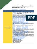Oferta de Asignaturas de Formación Integral en Actividad Extraprogramática 2015-2