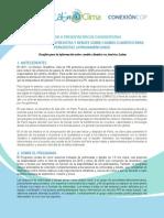 LLAMADO A PRESENTACIÓN DE CANDIDATURAS 1er PROGRAMA DE ENTREVISTAS Y DEBATE SOBRE CAMBIO CLIMÁTICO PARA PERIODISTAS LATINOAMERICANOS