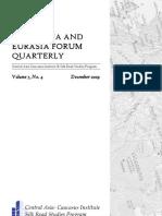 The China and Eurasia Forum Quarterly