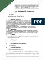 Acido Metatartarico Metodos No Usuales