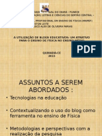 O uso do Blog no Ensino de Física