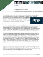 Fin Del Relato Progresista progresita en América latina