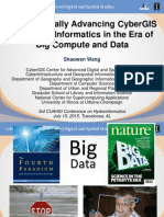 Shaowen Wang - Synergistically Advancing CyberGIS and HydroInformaticsin the Era of Big Compute and Data