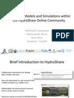 Anthony Castronova - Hydrologic Models and Simulations within the HydroShareOnline Community