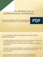 UNIDAD 1 El Proceso de La Administración Estratégica