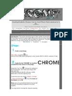 Complex Chrome Tutorial
