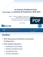 David Gochis - Multi-variate Analysis of National Scale Hydrologic Simulations & Predictions