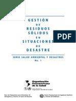 Gestion de Residuos Sólidos en Desastres OPS