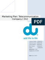 Du Marketing Plan Final Draft