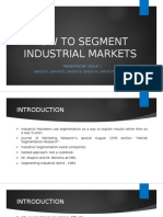 How to Segment Industrial Markets