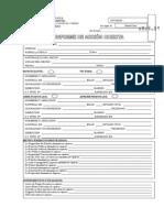 Formulario de Acta de Acción Directa
