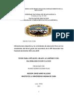 Infraestructura deportiva y las actividades de educación física en los estudiantes del tercer grado de secundaria de la IEP Alexander Von Humbolt del distrito VES Lima 2015