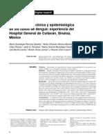 Caracterización clínica y epidemiológica  de los casos de dengue