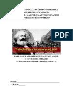Apostila Sobre Karl Marx, Movimento Operário e Formas de Gestão - EESP