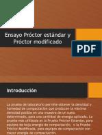 Ensayo Proctor Estándar y Proctor Modificado