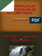 Como Verificar Las Especificaciones de Un Computador