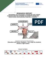Research Report regarding Career Guidance