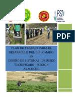PLAN DE TRABAJO DIPLOMADO  DISEÑO DE SISTEMAS DE RIEGO TECNIFICADO- HUAMANGA - AYACUCHO.pdf