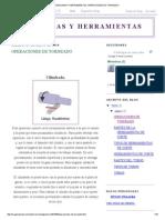Maquinas y Herramientas_ Operaciones de Torneado