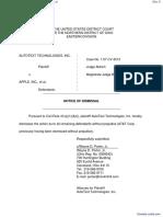 AutoText Technologies, Inc. v. Apple, inc. et al - Document No. 6