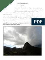 Analisis Ovni Huayna Picchu