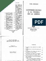 Abraham, K. Contribuciones a La Teoria de La Libido Karl Abraham