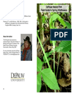 DePauw Nature Park Field Guide to Spring Wildflowers