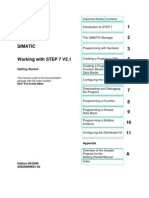 STEP 7 - Working With STEP 7