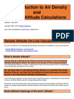 An Introduction to Air Density and Density Altitude Calculations