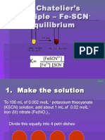 iron -thiocyanate equilibrium