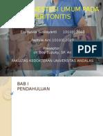 Ppt Case Peritonitis