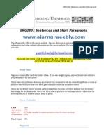 eng2401 sentences and short paragraphs course syllabus