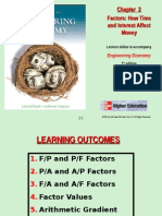 Chapter 2 - Factors, Effect of Time & Interest on Money