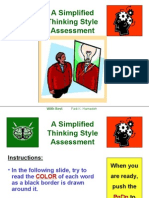 Thinking Style Left Right Brain Self Assessment English
