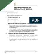 Esquema Plan de Iniciativa Empresarial -Virtual