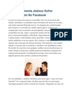 Esposa Ciumenta Jealous Sofrer Sombra Vento No Facebook