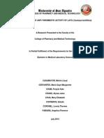 In Vitro Study of Anti-Thrombotic Activity of Lato (Caulerpa lentillifera)