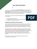 Funciones de Administrador Financiero