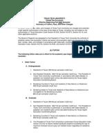 TTU Global Fee 2009-10