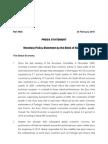 Monetary Policy Press Statement - 24 February 2010
