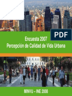 Primera Encuesta de Percepcion de Calidad Urbana (Minvu-Ine)[1]