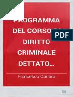 Programma Del Corso Di Diritto Criminale Vol. II