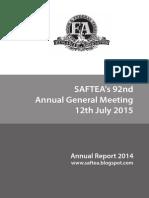 Saftea Annual Report 2014