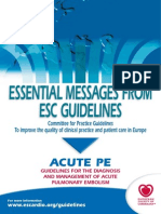 APEEssential Messages Pulmonary Embolism 2014