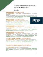 Bibliografía José de Acosta - Biblioteca Uarm