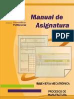 M.a. Procesos de Manufactura