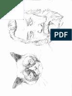 artist cat sketch
