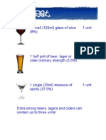 Alcohol Fact Sheet #2 - Units of Alcohol