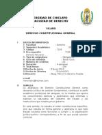 Silabus Derecho Constitucional General 2015