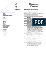 Shadowrun 5th Edition Cheat Sheet